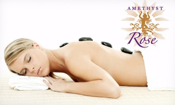 Amethyst Rose Massage, Healing, Skincare and Pilates Spa - Islip: $40 for a One-Hour Facial or One-Hour Mini Hot-Stone Massage at Amethyst Rose Massage, Healing, Skincare and Pilates Spa
