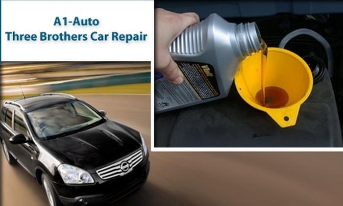 A1 Auto Three Brothers Car Repair - Gwynns Falls: $17 Oil Change at A1 Auto Three Brothers Car Repair