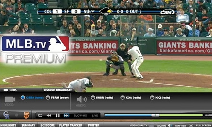 MLB.TV® Premium Service - St Louis: $5 for 30 Days of MLB.TV® Premium Service ($24.95 Value)