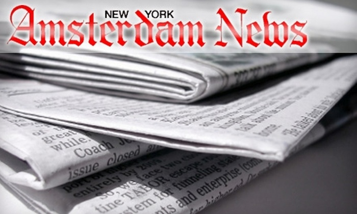 """New York Amsterdam News"" - Multiple Locations: $17 for One-Year Newspaper Subscription ($35 Value)"
