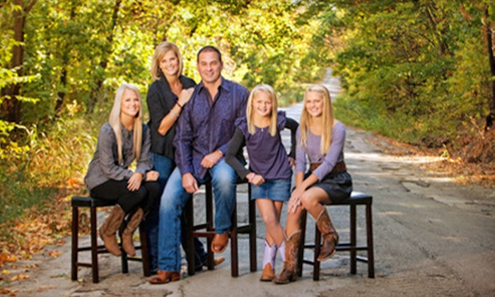"""Photographic Designs - Riverwalk Crossing: $59 for a Portrait Session for Up to Five People with 11""""x14"""" Wall Portrait from Photographic Designs ($335 Value)"""