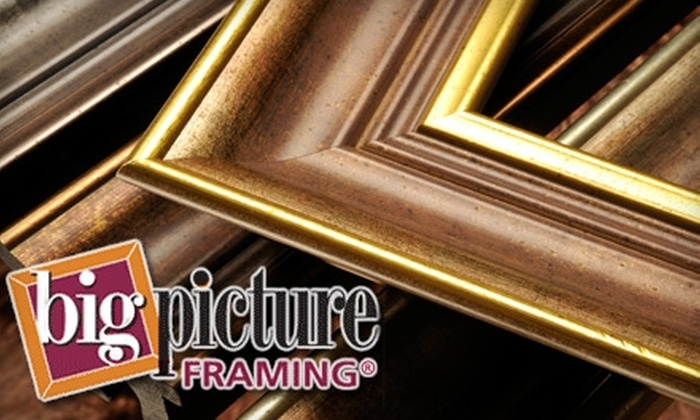 Big Picture Framing - Multiple Locations: $40 for $100 Worth of Custom Framing at Big Picture Framing