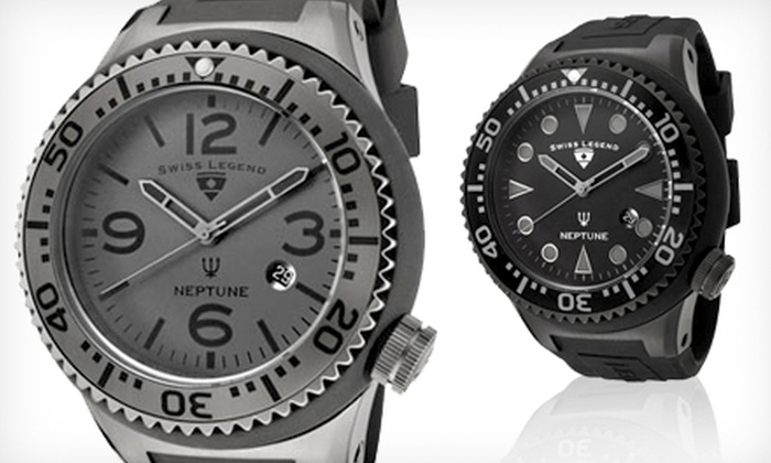 59 for a swiss legend men s neptune watch groupon goods men s swiss legend watch 59 for a swiss legend men s neptune watch in one of