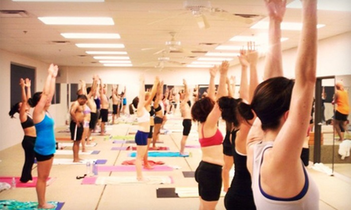 Vegas Hot! Yoga & Pilates - South West: $30 for One Month of Unlimited Classes at Vegas Hot! Yoga & Pilates ($149 Value)