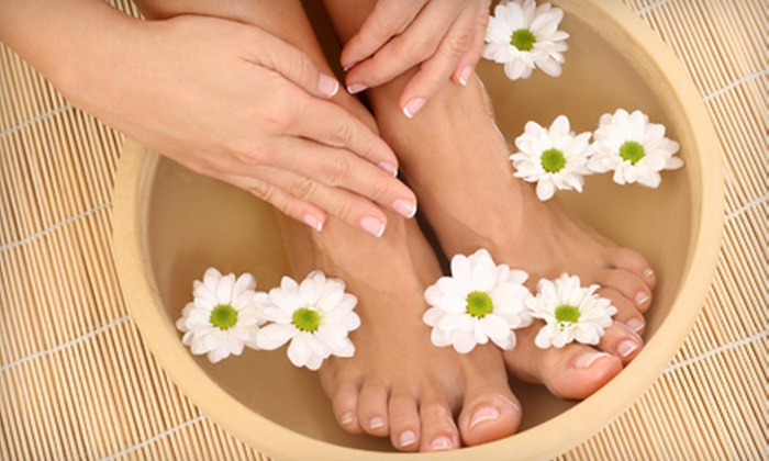 Yvette's Nail Spa - Cantera: $25 for Mani-Pedi at Yvette's Nail Spa in Warrenville ($50 Value)