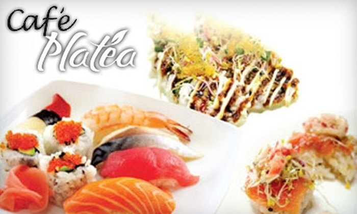 Café Platea Sushi & Korean - Winnipeg: $10 for $20 Worth of Sushi, Korean Cuisine, and Drinks at Café Platea Sushi & Korean