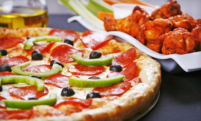 Back East Pizza & Wings - Springs Ranch: Pizza Meal with Wings and Soda at Back East Pizza & Wings (51% Off)