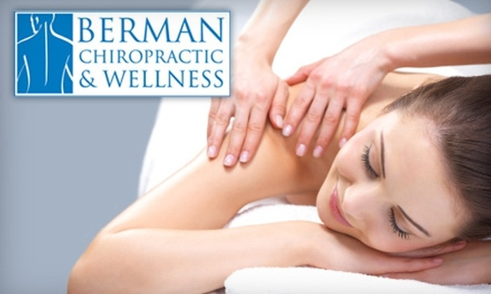Berman Chiropractic & Wellness - Clayton: $19 for an Exam, Consultation, and 30-Minute Massage at Berman Chiropractic & Wellness in Clayton ($165 Value)