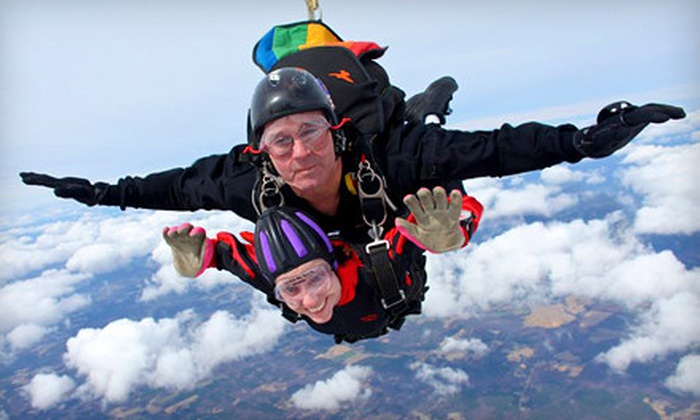 Triangle Skydiving Center - Harris: Tandem Jumps for One or Two from Triangle Skydiving Center in Louisburg (Up to 36% Off)