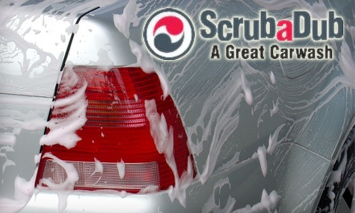 "Scruba Dub Auto Wash Center - Multiple Locations: $18 for Three ""The Works"" Car Washes at ScrubaDub Auto Wash Center"