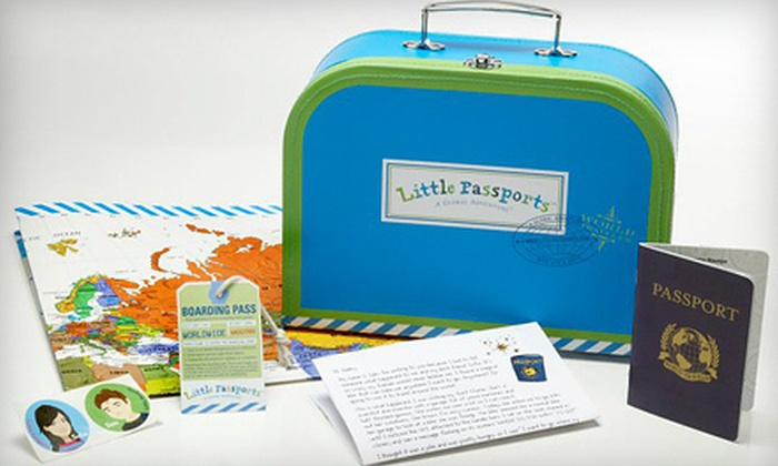 Little Passports Traveler Kit Subscription: $25 for a Little Passports 3-Month Traveler Package Subscription. Shipping Included ($53.85 Value).