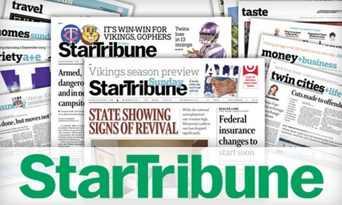 Star Tribune Media Company, LLC - Downtown West: $25 for 26 Weeks of Minneapolis Star Tribune Daily Newspaper Delivery