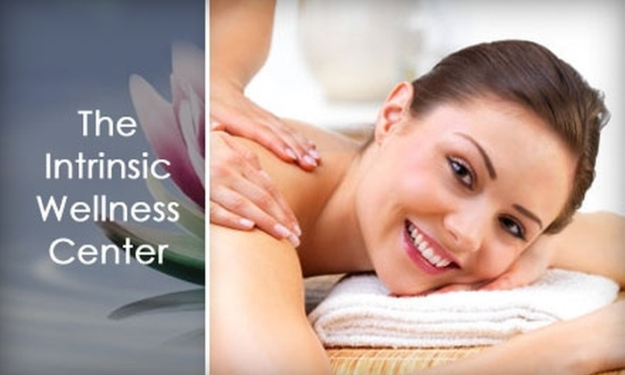 The Intrinsic Wellness Center - Lewisville: $75 for an Aromatherapy Swedish Massage, Infrared Body Wrap, and Foot Bath at The Intrinsic Wellness Center in Lewisville ($180 Value)