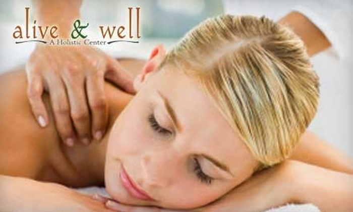 Alive & Well A Holistic Center - McGregor: $30 for a One-Hour Signature Massage at Alive & Well A Holistic Center