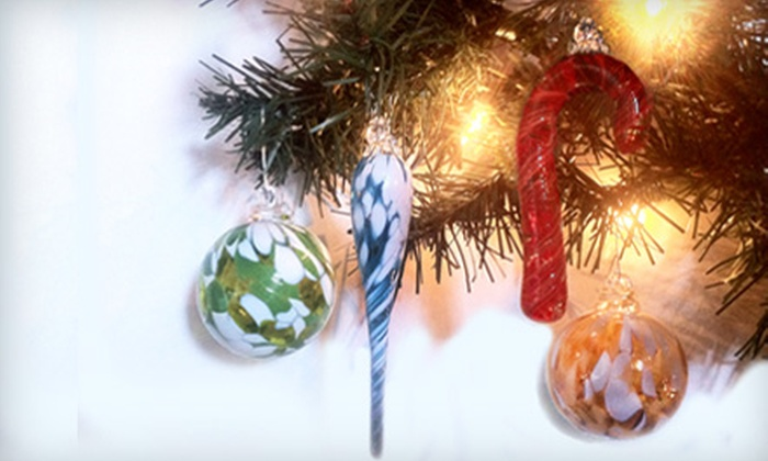 Kingston Glass Studio and Gallery - Downtown Kingston: $30 for Five Handcrafted MJH Glass Ornaments at Kingston Glass Studio and Gallery ($60 Value)