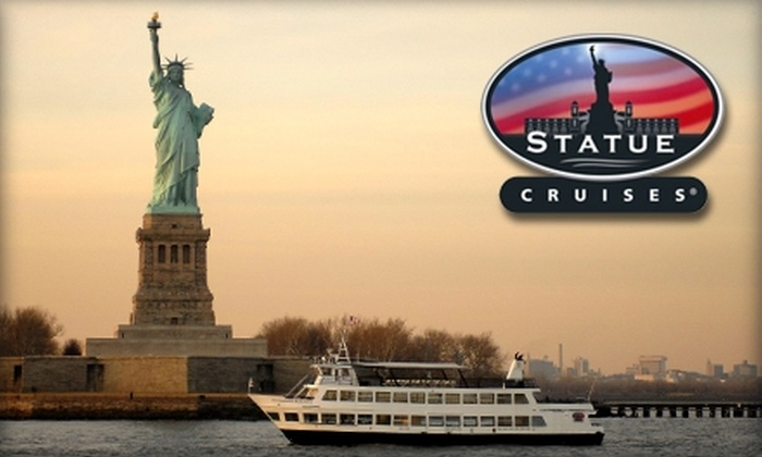Statue Cruises - Multiple Locations: $18 for a Sunset Cocktail Cruise from Statue Cruises ($36 Value)