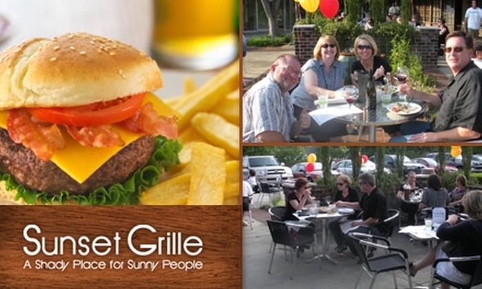 Sunset Grille - Dilworth: $10 for $20 Worth of Food and Drinks at Sunset Grille