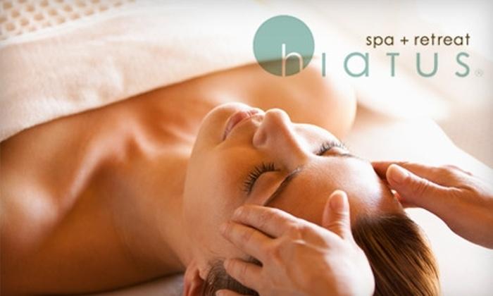 Hiatus Spa + Retreat - Bluffview: $49 for a Hiatus Massage, Facial, Body Polish, Rosemary-Mint Wrap, or Mani-Pedi (Up to $100 Value)