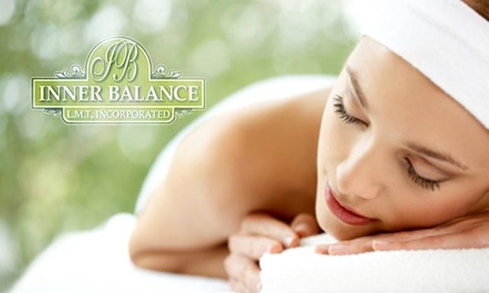 Inner Balance Wellness Center - Copiague: $40 for an Hour-Long Massage and Choice of Reflexology or Scalp Treatment at Inner Balance Wellness Center ($85 Value)