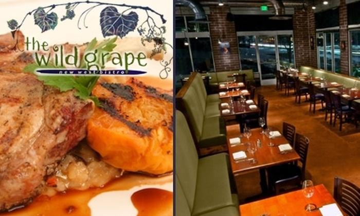 The Wild Grape Bistro - Greater Avenues: $12 for $25 Worth of Fresh Fare and Drinks at The Wild Grape Bistro