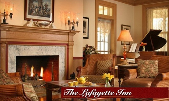 The Lafayette Inn - Downtown Historic District: $62 for One Night in a Traditional Room at The Lafayette Inn in Easton ($125 Value)