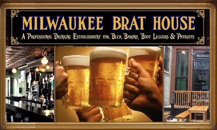 Milwaukee Brat House - Kilbourn Town: $7 for $15 Worth of Bratwursts, Sandwiches, and Pints at Milwaukee Brat House