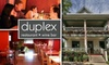 Duplex Restaurant & Bar - East Isles: $25 for $55 Worth of Bistro Fare at Duplex Restaurant & Bar