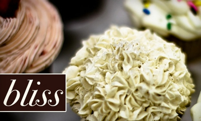 Bliss Old Market Bakery - Downtown: $7 for a Dozen Small Cupcakes of Any Flavor at Bliss Old Market Bakery ($15 Value)