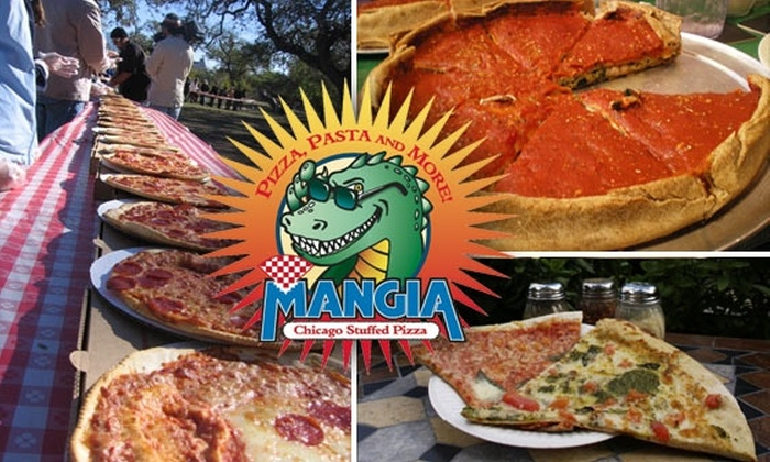 Mangia Pizza - Mesa Trails: $10 for a Medium Chicago-Style Stuffed Pizza from Mangia Pizza