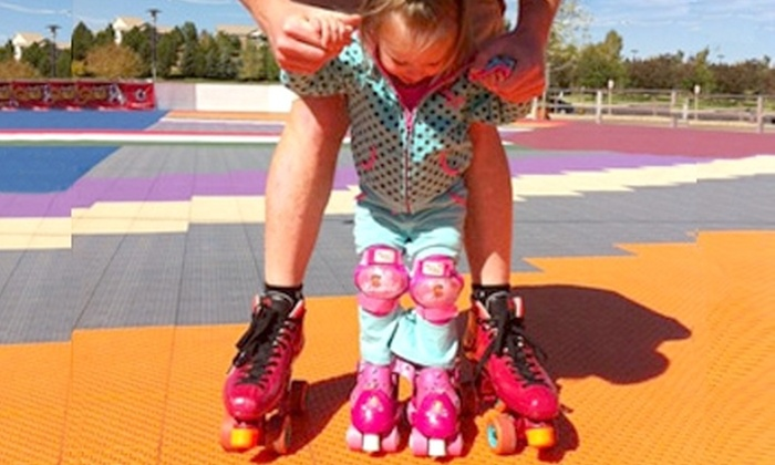 SummerSkate - Flatiron Crossing: $16 for Admission and Roller Skate Rental for Four at SummerSkate in Broomfield (up to $32 Value)