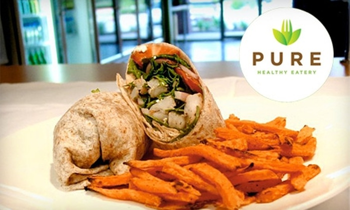 Pure Healthy Eatery - Research Forest: $10 for $20 Worth of Organic Sandwiches, Wraps, and Smoothies at Pure Healthy Eatery in The Woodlands