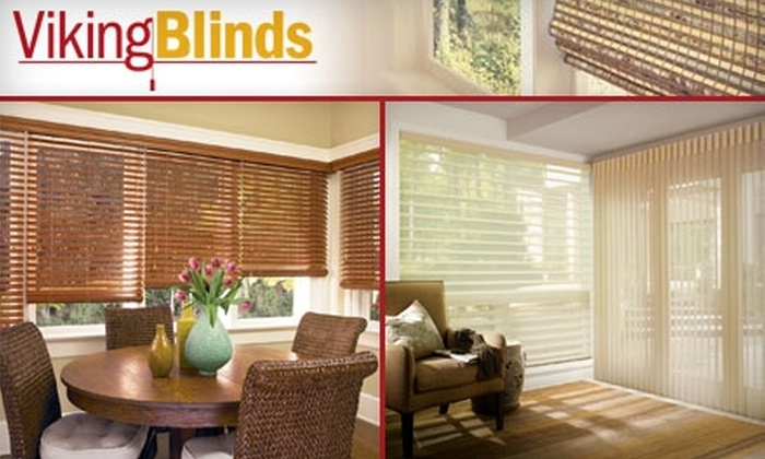 Viking Blinds - Multiple Locations: $45 for $111 Worth of Custom Hunter Douglas Window-Coverings from Viking Blinds
