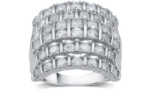 2.04 CTTW Diamond Anniversary Ring in Sterling Silver by DeCarat