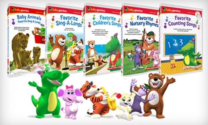 Baby Genius: $25 for Five Educational Children's DVDs, Plus Five Free Bonus CDs, from Baby Genius ($49.75 Value)