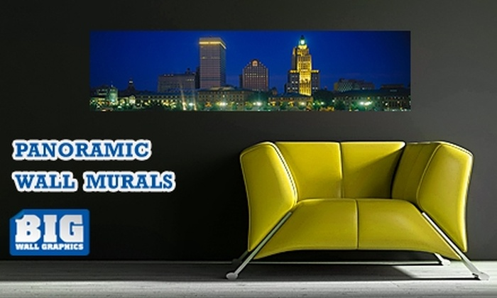 """Larger Than Life Prints - Providence: $35 for a """"Big Wall Graphic"""" Panoramic Wall Mural from LTL Prints ($84 Value)"""