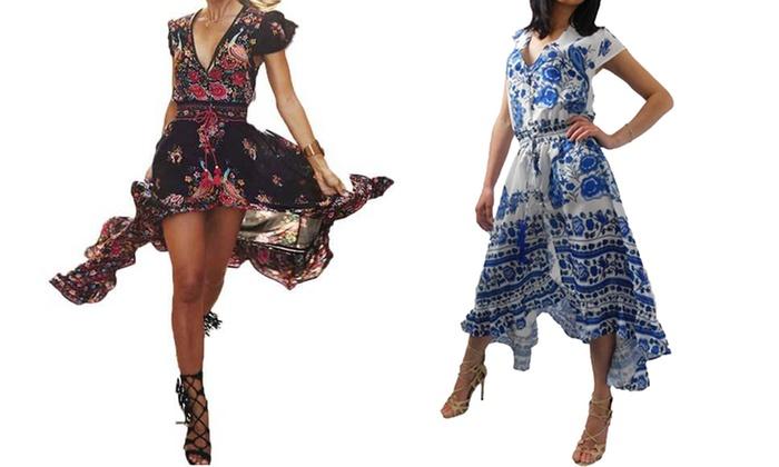 huge discount 6d67b 5e73b Fino a 60% su Vestito vintage con scollo a V   Groupon