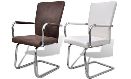 2, 4 Oder 6 Moderne Esszimmerstühle In Weiß Oder Braun Bis Zu Sparen*