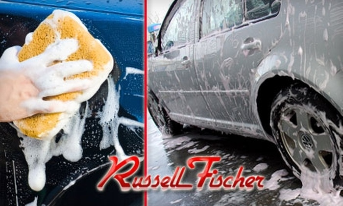 Russell Fischer Car Wash  - Multiple Locations: $19 for a Blue Coral Car Wash & Wax at Russell Fischer Car Wash ($37.99 value). Choose from Three Locations.