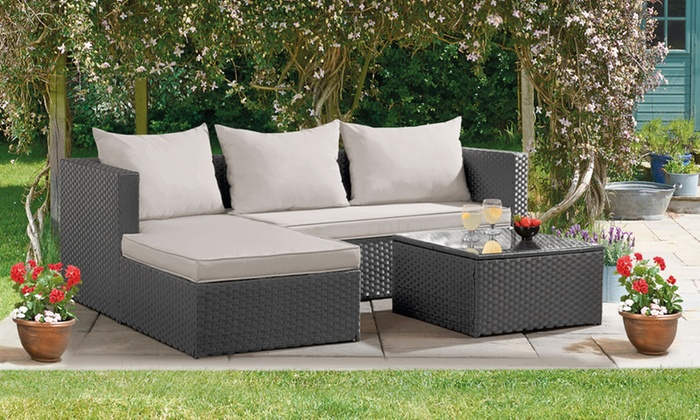 Havana Rattan Effect Corner Sofa Set With Optional Covers And Free Delivery