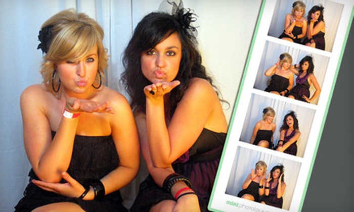 Mint Photolounge - Multiple Locations: $699 for a Four-Hour Photo-Booth Rental with Double Prints from Mint Photolounge ($1,500 Value)