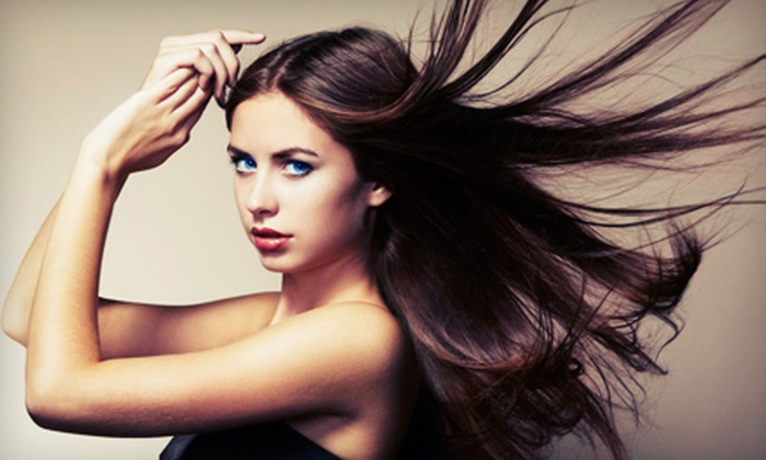 La Bella Day Spa and Salon - Upland: Haircut Packages with Optional Full or Partial Highlights at La Bella Day Spa and Salon in Upland (Up to 58% Off)