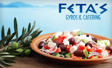$20 Groupon to Fetas Gyros & Catering - Fetas Gyros & Catering in Omaha