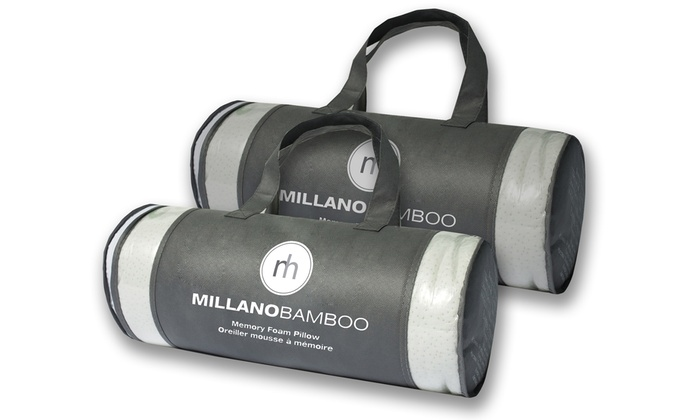 Superior Quilting: Millano Hypoallergenic Rolled-Bamboo Memory Foam Pillow (Shipping Included)