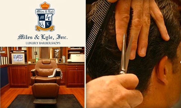 Miles & Lyle Luxury Barbershop - Aventura: $25 for a Royal Haircut and Manly Manicure at Miles & Lyle Luxury Barbershop in Aventura