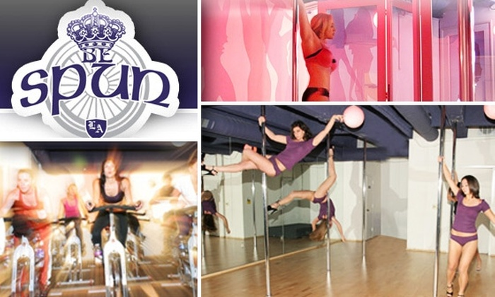 BeSpun - Hollywood: $30 for Cycling or Pole-Dancing Classes at BeSpun ($60 Value)