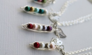 Up to 50% Off a Custom Peas in a Pod Necklace from KraftyChix