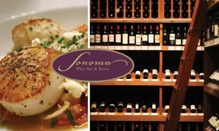 Sonoma Wine Bar & Bistro - Northwest Virginia Beach: $25 for $50 Worth of Wine and Dinner Fare at Sonoma Wine Bar & Bistro (or $12 for $25 Worth of Lunch or Brunch)