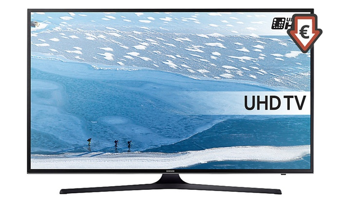 tv samsung uhd 4k smart tv ue40ku6072 neuve et garantie groupon. Black Bedroom Furniture Sets. Home Design Ideas