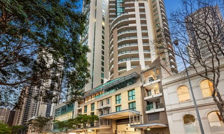 Brisbane: One or TwoNight Apartment Stay for Four People with Wine and Late CheckOut at Quest River Park Central