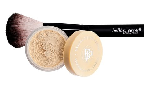 Bellapierre Cosmetics Banana Setting Powder with Vegan Brush